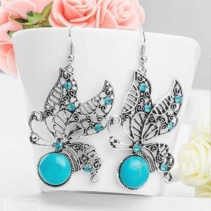 Butterfly turquoise earrings